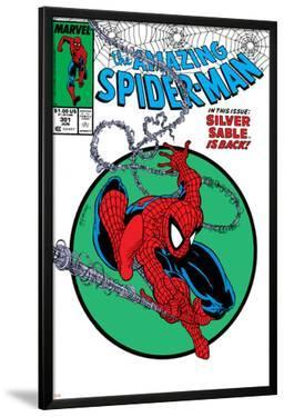 Amazing Spider-Man No.301 Cover: Spider-Man Swinging by Todd McFarlane