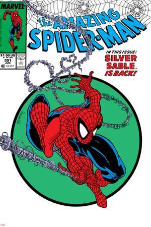 Amazing Spider-Man No.301 Cover: Spider-Man Swinging