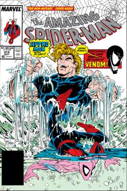 Amazing Spider-Man No.315 Cover: Spider-Man and Hydro-Man by Todd McFarlane