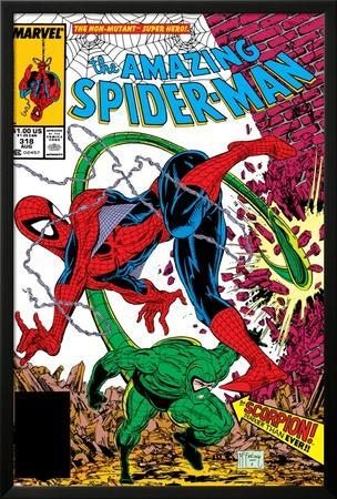 Amazing Spider-Man No.318 Cover: Spider-Man and Scorpion