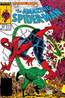 Amazing Spider-Man No.318 Cover: Spider-Man and Scorpion by Todd McFarlane