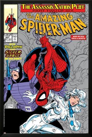 Amazing Spider-Man No.321 Cover: Spider-Man, Silver Sable and Paladin