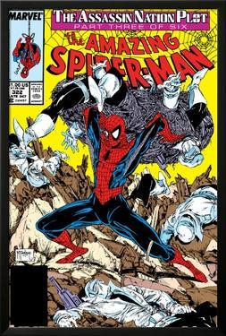 Amazing Spider-Man No.322 Cover: Spider-Man by Todd McFarlane