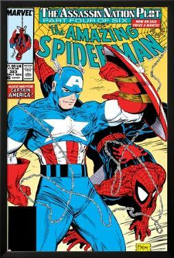 Amazing Spider-Man No.323 Cover: Captain America and Spider-Man by Todd McFarlane