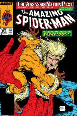 Amazing Spider-Man No.324 Cover: Sabretooth and Spider-Man by Todd McFarlane