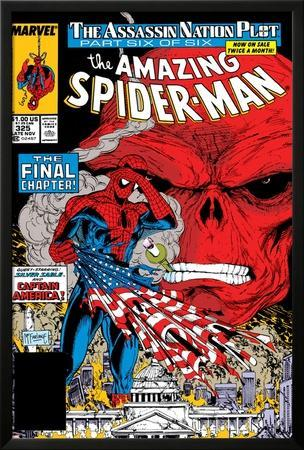 Amazing Spider-Man No.325 Cover: Spider-Man and Red Skull