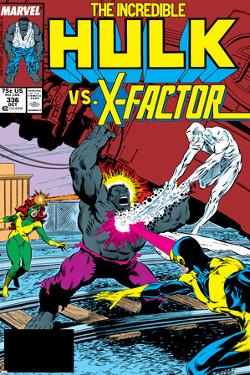 Incredible Hulk No.336 Cover: Iceman, Grey, Jean, Cyclops, Hulk and X-Factor Crouching by Todd McFarlane