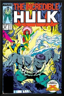 Incredible Hulk No.337 Cover: Hulk, Cyclops, Grey, Jean, Iceman and X-Factor by Todd McFarlane