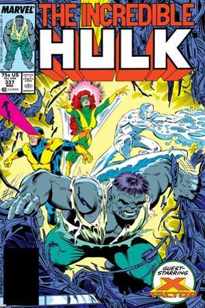 Incredible Hulk No.337 Cover: Hulk, Cyclops, Grey, Jean, Iceman and X-Factor