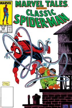 Marvel Tales: Spider-Man No.224 Cover: Spider-Man and Doctor Octopus Charging by Todd McFarlane