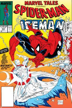 Marvel Tales: Spider-Man No.227 Cover: Spider-Man and Iceman Fighting by Todd McFarlane
