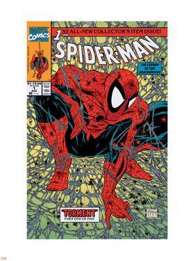 Spider-Man No.1 Cover: Spider-Man by Todd McFarlane