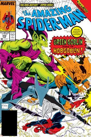 The Amazing Spider-Man No.312 Cover: Spider-Man, Green Goblin and Hobgoblin