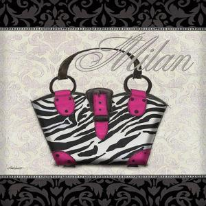 Pink Purse Square I by Todd Williams