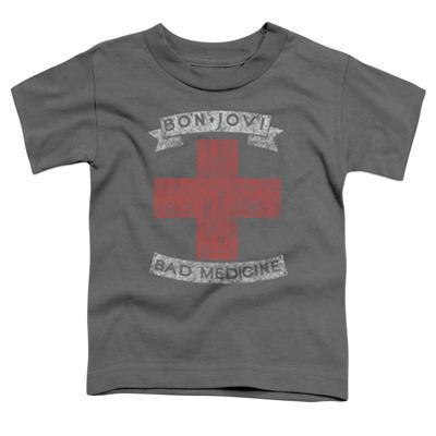 Toddler: Bon Jovi- Distressed Bad Medicine Cross