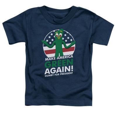 Toddler: Gumby- For President, Make America Green Again