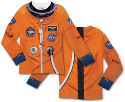 Toddler Long Sleeve:  Astronaut Space Suit Costume Tee (Front/Back)