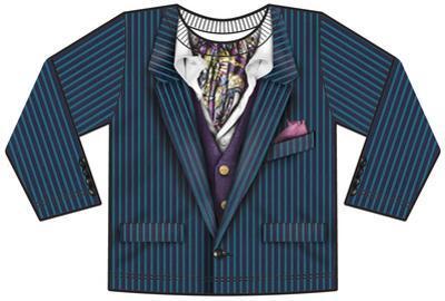 Toddler Long Sleeve: Pin Stripe Suit Costume Tee