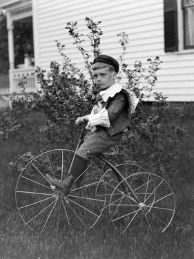 Toddler on a Period Tricycle, Ca. 1895