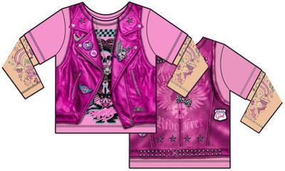 Toddler: Pink Biker Costume Tee