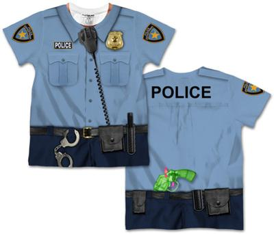 Toddler: Policeman Costume Tee (Front/Back)