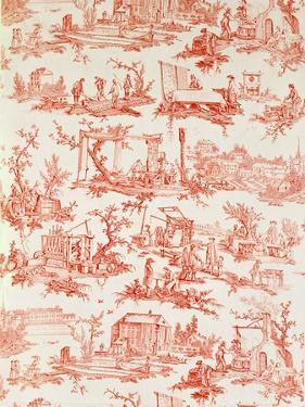Toile De Jouy, Illustrating the Processes of Manufacturing Cotton, Designed by Christophe Huet