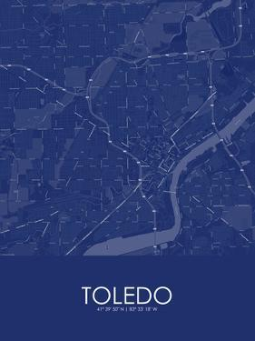 Toledo, United States of America Blue Map