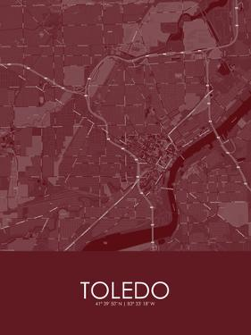 Toledo, United States of America Red Map