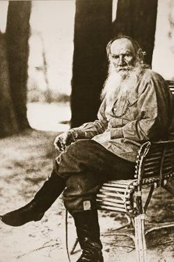 Tolstoy in His Later Years at His Country Estate