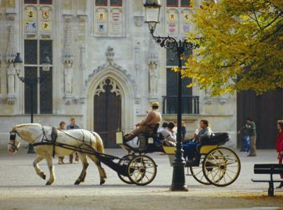 Horse-Drawn Trap, Bruges, Belgium