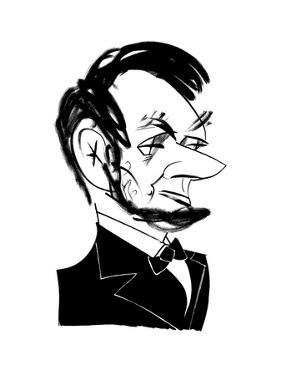 Abraham Lincoln - Cartoon by Tom Bachtell