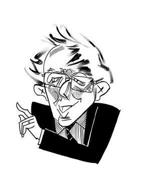 Bernie Sanders Smiling - Cartoon by Tom Bachtell