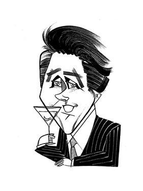 Bryan Ferry - Cartoon by Tom Bachtell