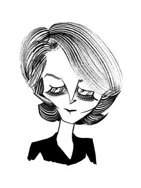 Charlotte Rampling - New Yorker Cartoon by Tom Bachtell