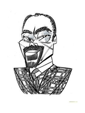 Clyde Walt Frazier  - New Yorker Cartoon by Tom Bachtell