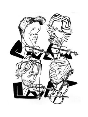 Danish String Quartet - New Yorker Cartoon by Tom Bachtell