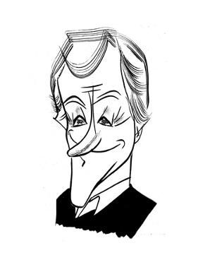 Dick Van Dyke - Cartoon by Tom Bachtell