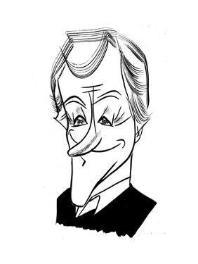 Dick Van Dyke - Cartoon by Tom Bachtell