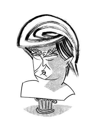 Donald Trump Bust - Cartoon