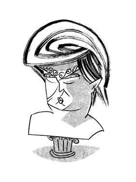 Donald Trump Bust - Cartoon by Tom Bachtell