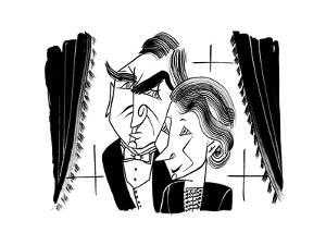 Downton Abbey Carson and Hughes - Cartoon by Tom Bachtell