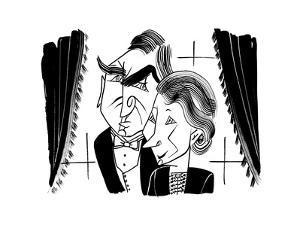 Downton Abbey Carson and Hughes - Cartoon by Tom Bachtell