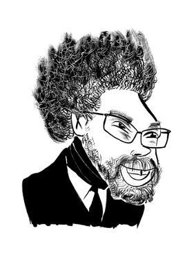 Dr. Cornel West  - Cartoon by Tom Bachtell