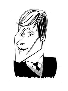 Dustin Lance Black - Cartoon by Tom Bachtell