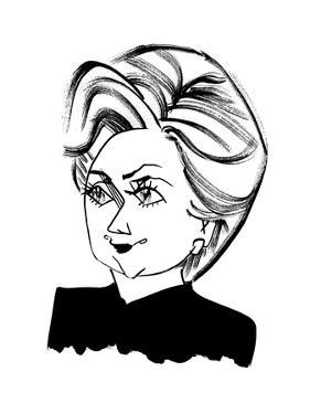 Hillary Clinton - Cartoon by Tom Bachtell