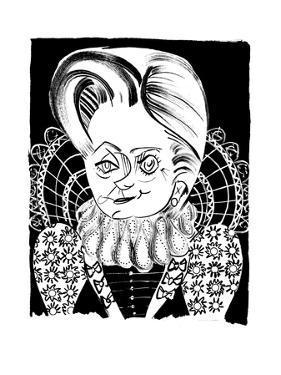 Hillary Queen EI - Cartoon by Tom Bachtell
