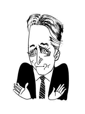 Jon Stewart - Cartoon by Tom Bachtell
