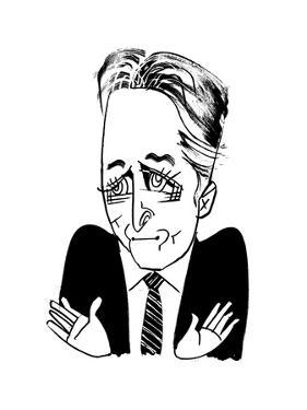 Jon Stewart - Cartoon by Tom Bachtell