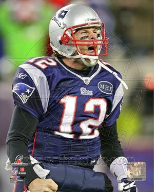 Tom Brady Celebrates his Touchdown run AFC Championship Game
