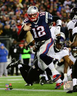 Tom Brady Touchdown Run 2014 Playoff Action